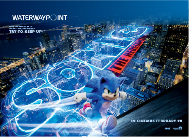 Keep On Running With Sonic The Hedgehog At Waterway Point