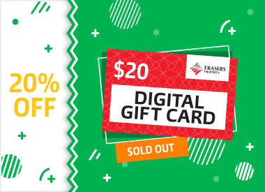 Get 20% off $20 Frasers Property Digital Gift Cards!